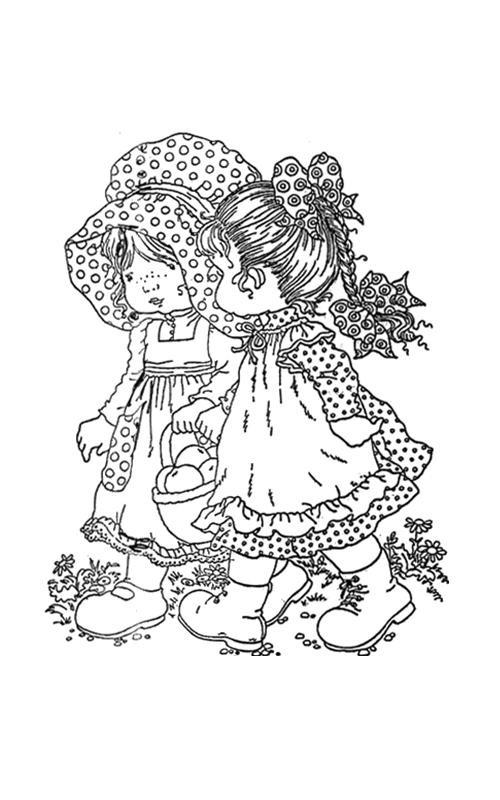 Coloriage et dessins gratuits Sarah Kay et son amie à imprimer