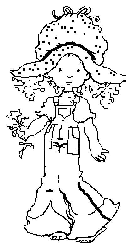 Coloriage et dessins gratuits Sarah Kay facile en ligne à imprimer