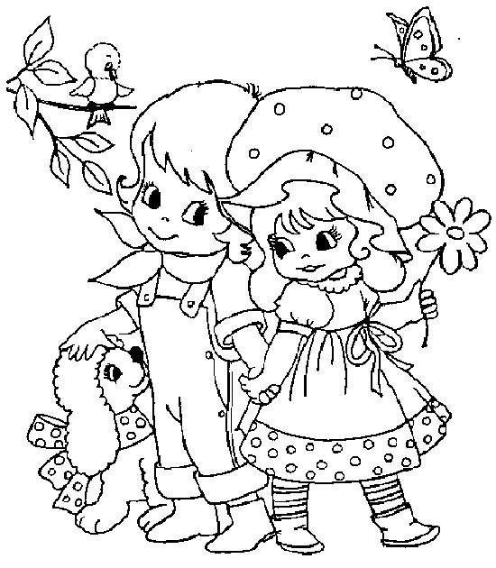 Coloriage et dessins gratuits Sarah Kay heureuse à imprimer