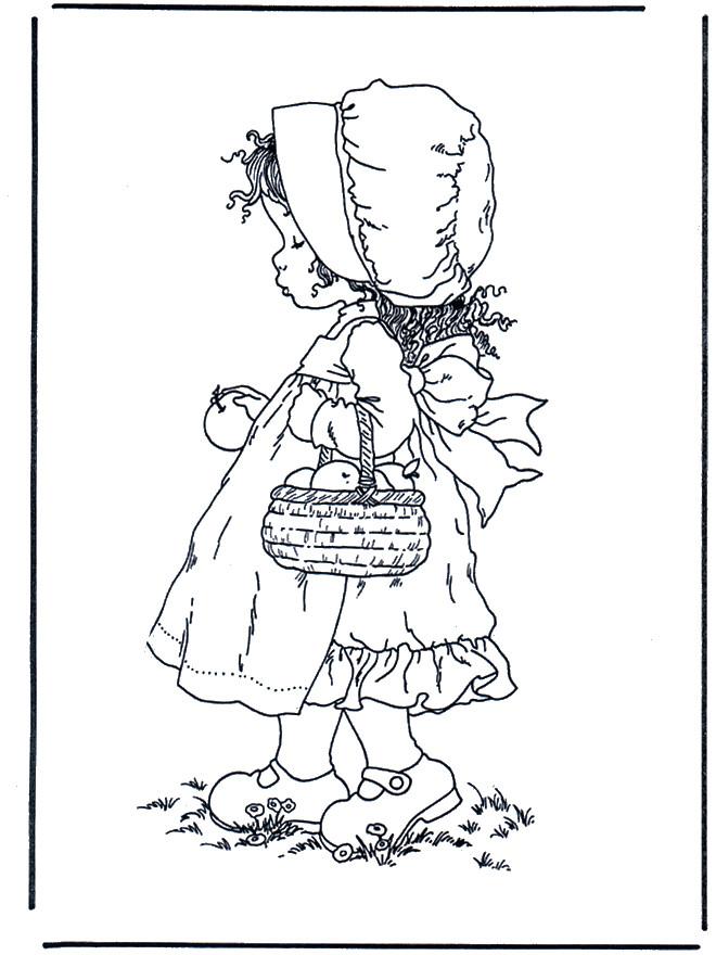 Coloriage et dessins gratuits Sarah Kay images gratuites à imprimer
