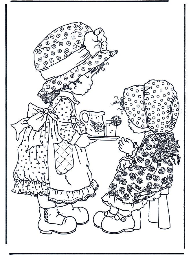 Coloriage et dessins gratuits Sarah Kay offre un jus de citron à imprimer