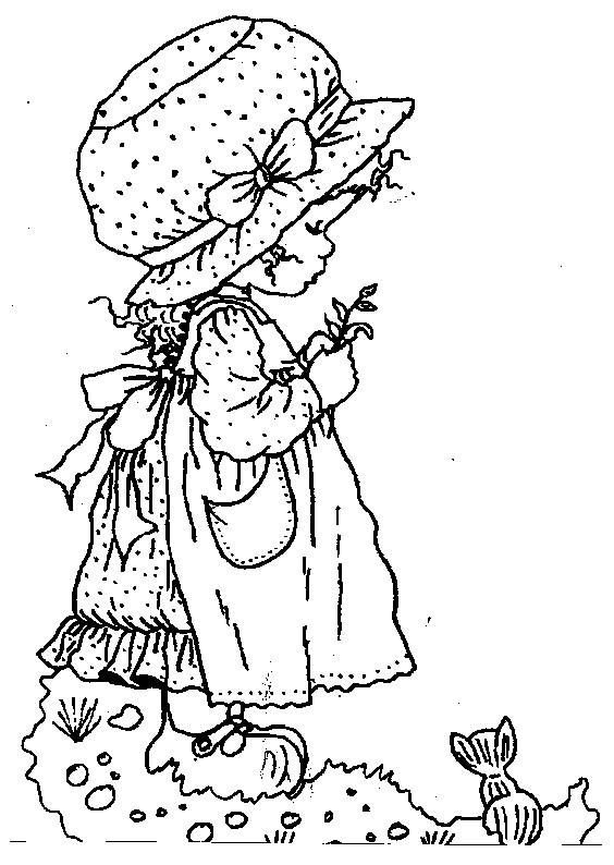 Coloriage et dessins gratuits Sarah Kay tient une petite plante à imprimer