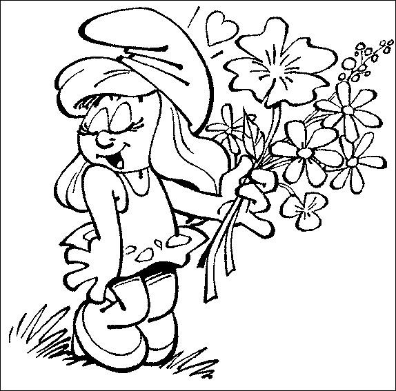 Coloriage et dessins gratuits Schtroumpf à imprimer à imprimer