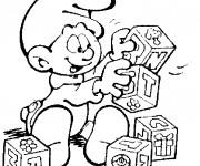 Coloriage et dessins gratuit Schtroumpf bébé à imprimer