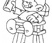 Coloriage et dessins gratuit Schtroumpf bébé en ligne à imprimer