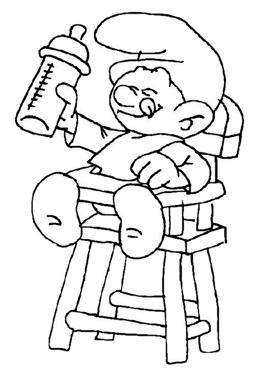 Coloriage schtroumpf b b en ligne dessin gratuit imprimer for Dessin maison en ligne