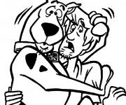 Coloriage et dessins gratuit Dessin Scooby doo en ligne à imprimer