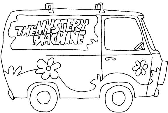 Coloriage le van de scooby doo dessin gratuit imprimer - Scoubidou en dessin anime ...
