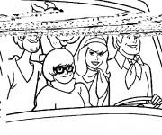 Coloriage et dessins gratuit Scooby doo à imprimer