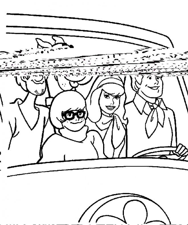 Coloriage et dessins gratuits Scooby doo à imprimer