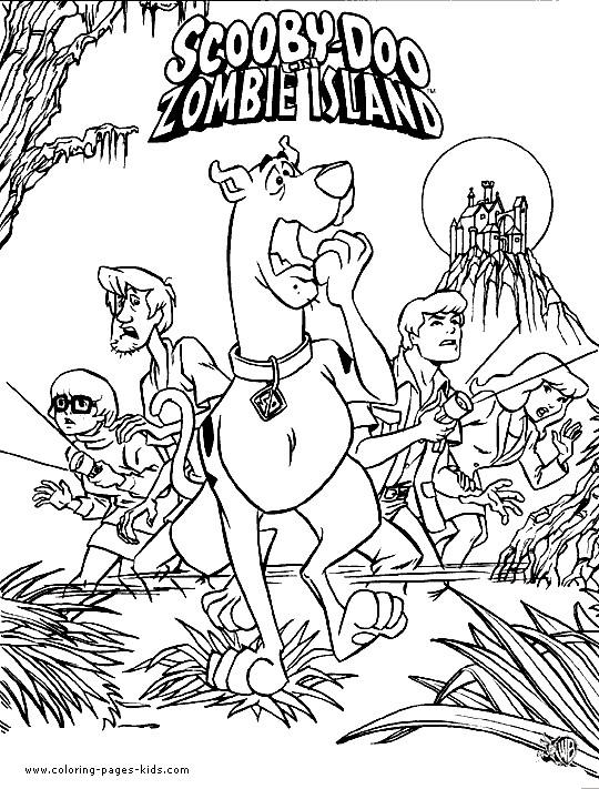 Coloriage Scooby Doo Dans Lîle Des Zombies