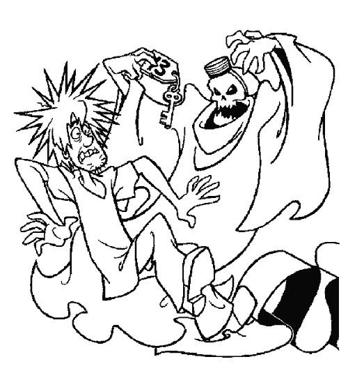 Coloriage et dessins gratuits Scooby doo effrayé à imprimer