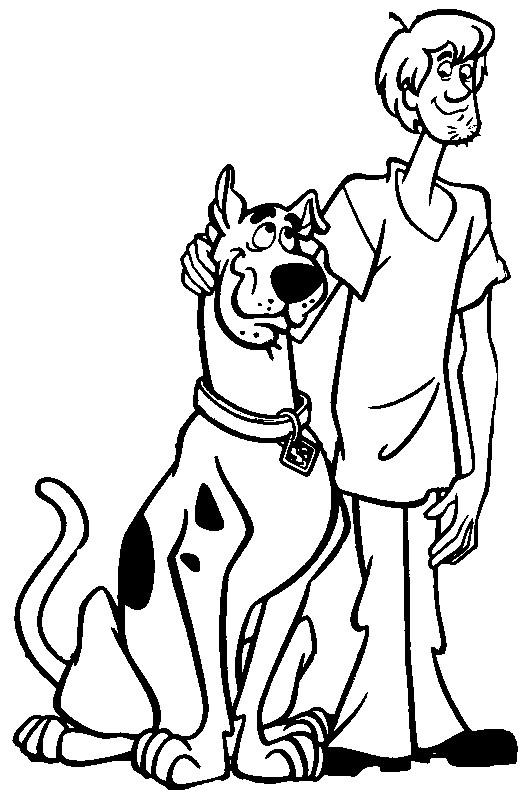 Coloriage et dessins gratuits Scooby doo et Sammy à imprimer