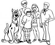 Coloriage et dessins gratuit Scooby doo et ses amis à imprimer