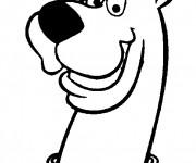 Coloriage et dessins gratuit Scooby doo facile à imprimer
