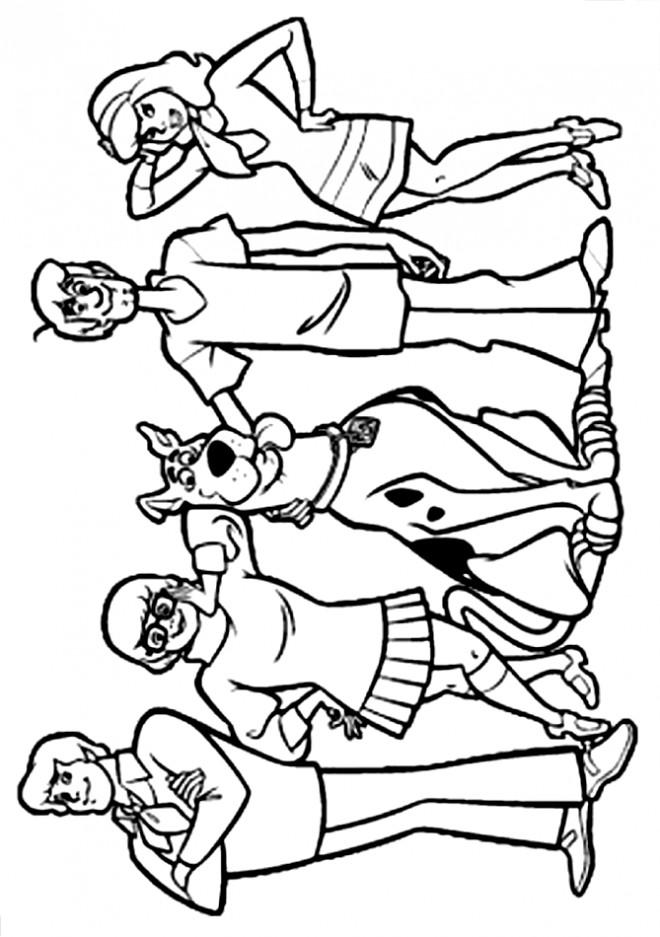 Coloriage Scooby doo gratuit à imprimer liste 20 à 40