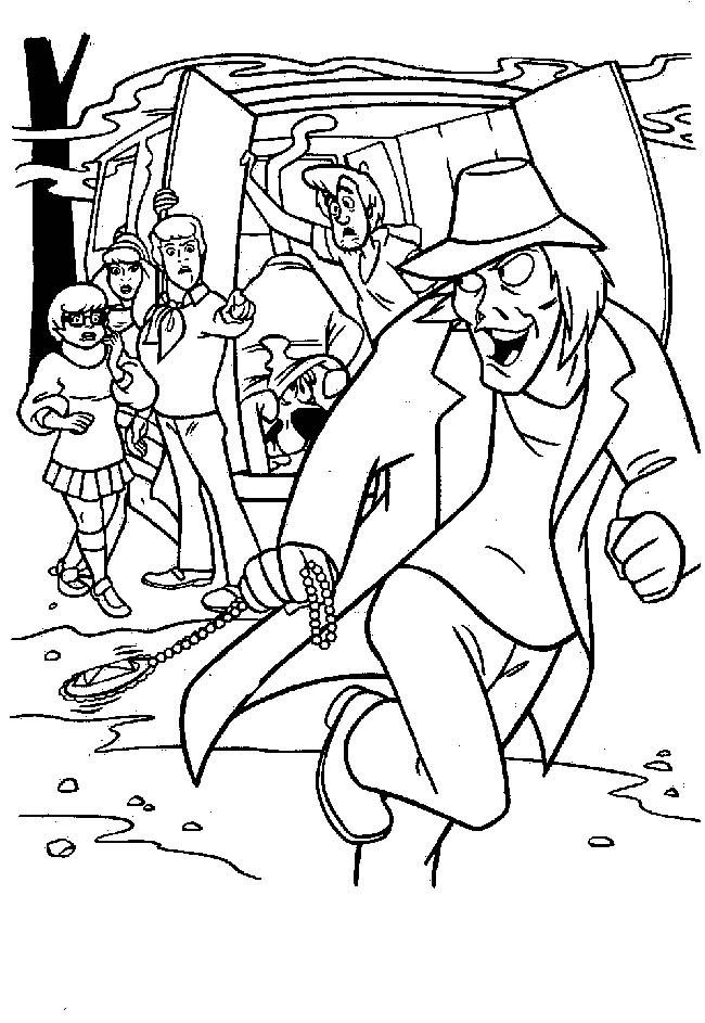 Coloriage Scooby Doo Le Vilain Dessin Gratuit A Imprimer