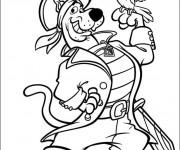 Coloriage et dessins gratuit Scooby doo pirate à imprimer