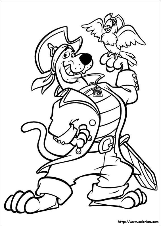 Coloriage et dessins gratuits Scooby doo pirate à imprimer