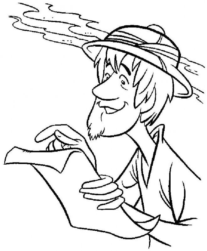 Coloriage et dessins gratuits Scooby doo Sammy entrain de lire à imprimer
