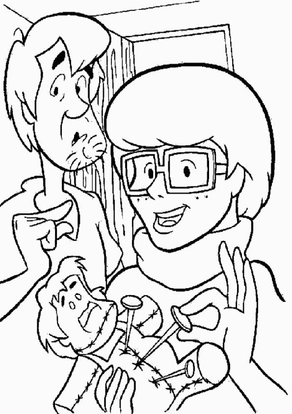 Coloriage et dessins gratuits Scooby doo Sammy et Vera à imprimer