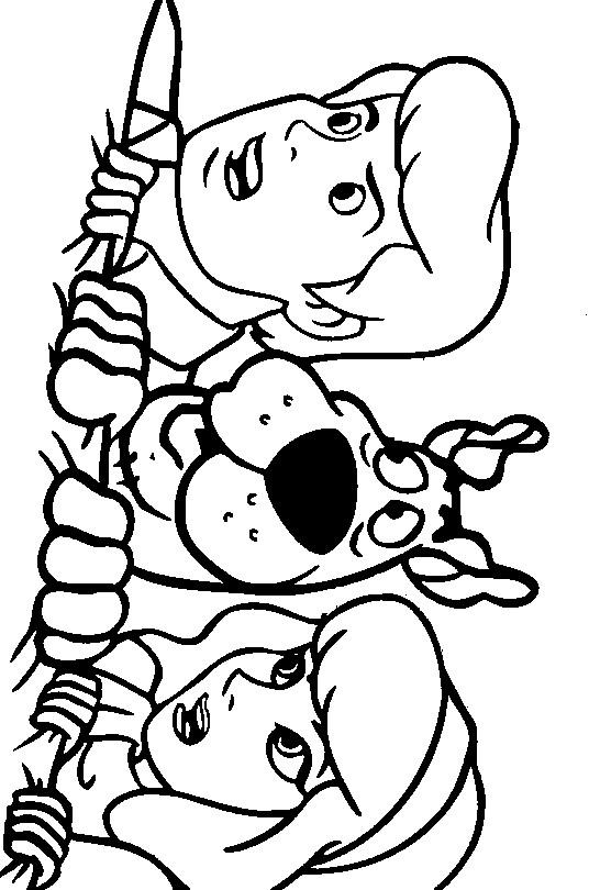 Coloriage et dessins gratuits Scooby doo simple à olorier à imprimer