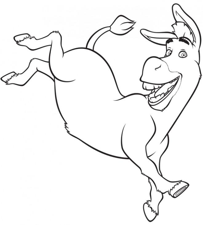 Coloriage et dessins gratuits L'âne de Shrek à imprimer