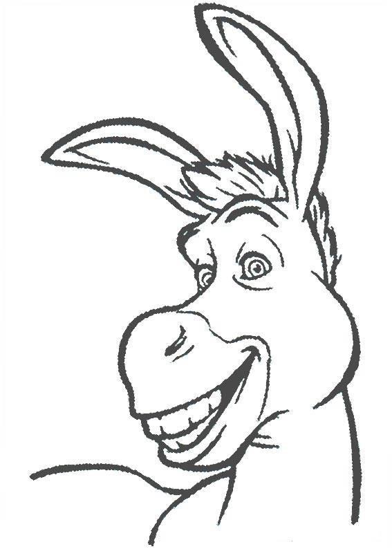 Coloriage et dessins gratuits L'âne de Shrek dessin simple à imprimer