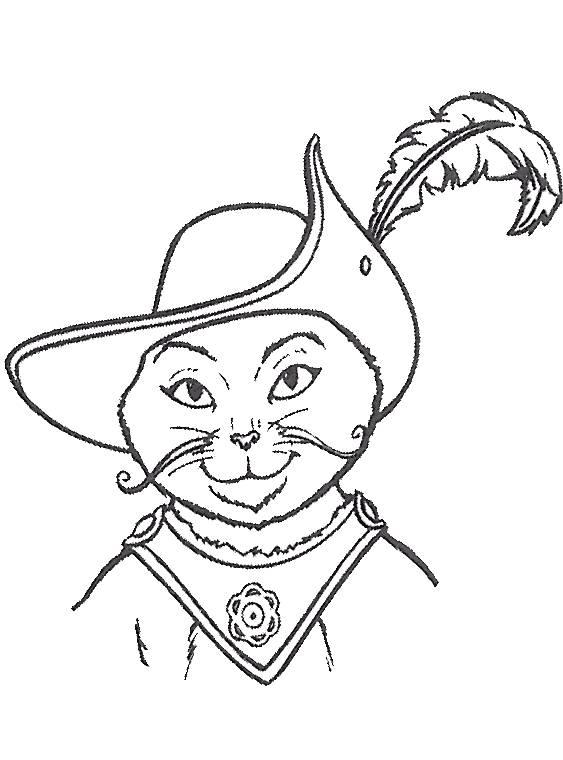 Gratuit Botte Chat Coloriage Imprimer Dessin Dans Shrek A Le Nxnpwok80