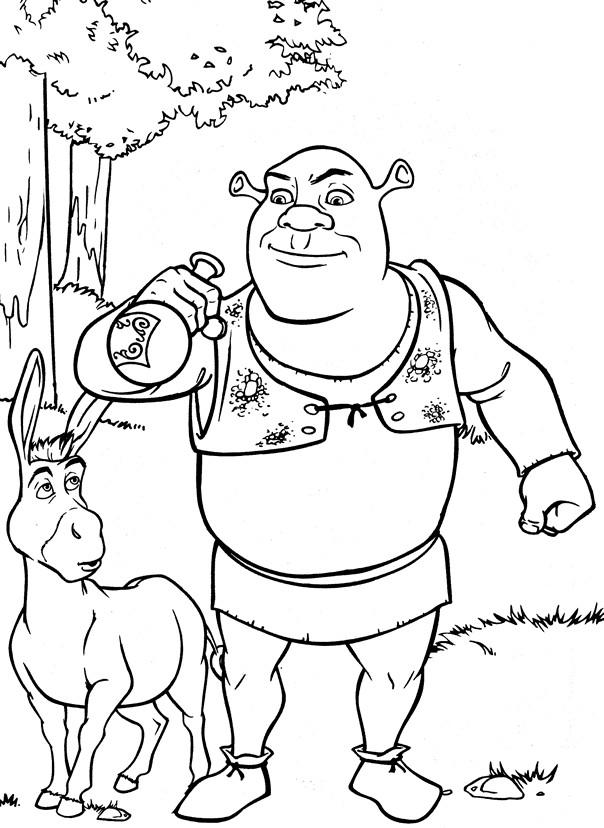 Coloriage et dessins gratuits Shrek boit la potion à imprimer