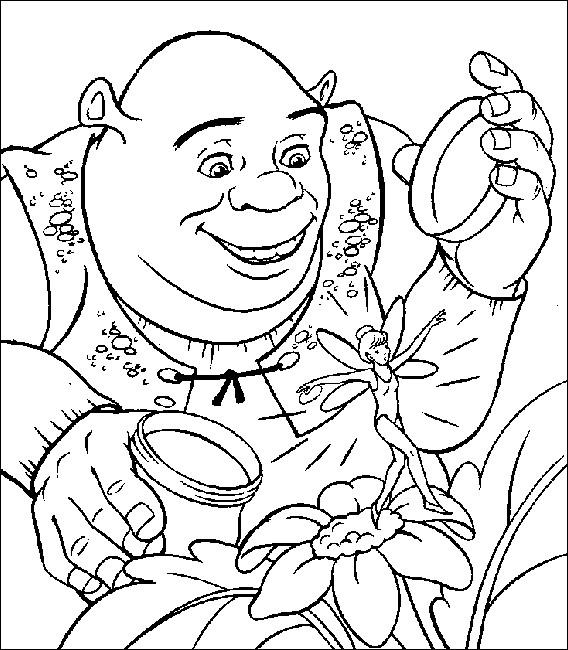 Coloriage et dessins gratuits Shrek découvre une fée à imprimer