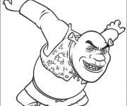 Coloriage et dessins gratuit Shrek en colère à imprimer