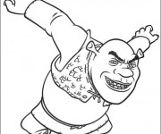 Coloriage Shrek en colère