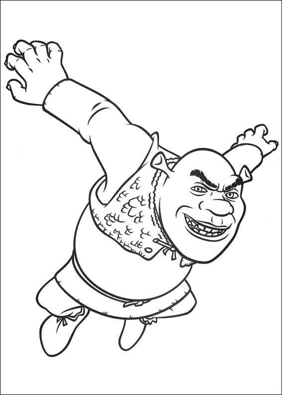 Coloriage et dessins gratuits Shrek en colère à imprimer