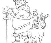 Coloriage et dessins gratuit Shrek est prêt pour le combat à imprimer