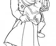 Coloriage et dessins gratuit Shrek et la princesse dansent à imprimer