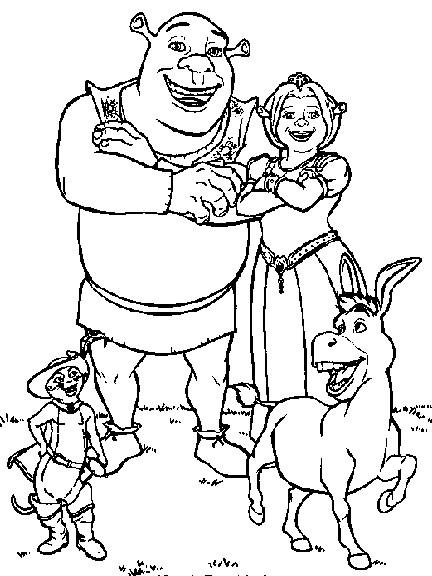 Coloriage et dessins gratuits Shrek et ses compagnons à imprimer