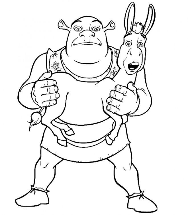 Coloriage et dessins gratuits Shrek facile à imprimer