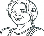 Coloriage Shrek: Fiona
