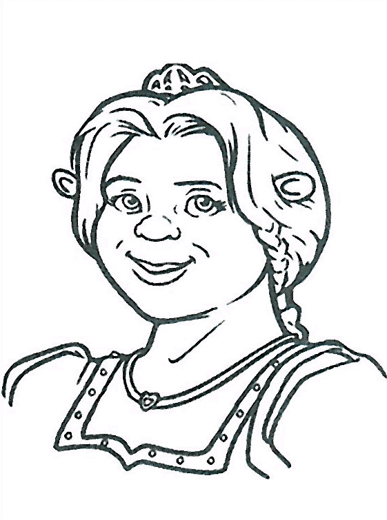 Coloriage et dessins gratuits Shrek: Fiona à imprimer