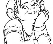 Coloriage Shrek : Fiona entrain de rêver