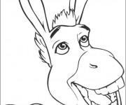 Coloriage Shrek: L'âne