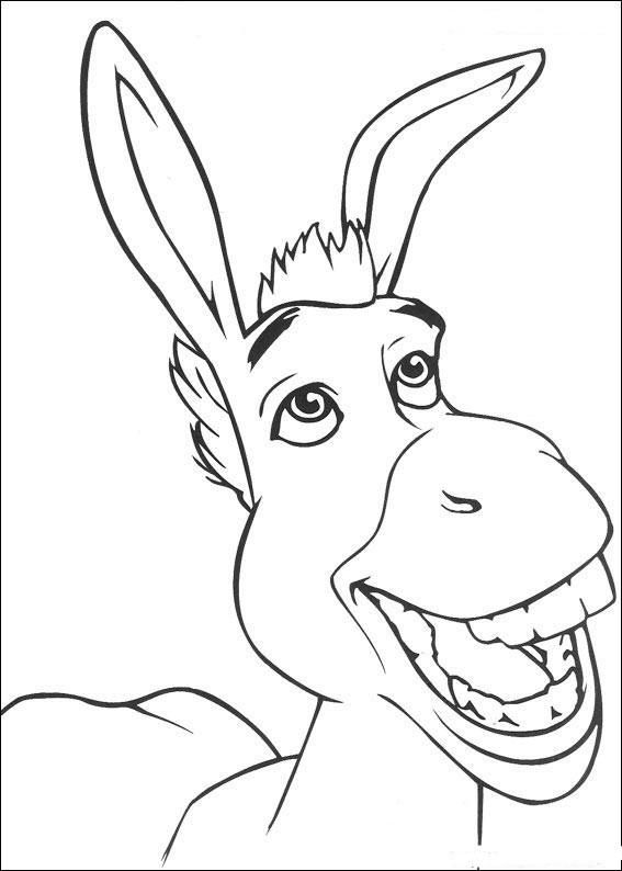 Coloriage et dessins gratuits Shrek: L'âne à imprimer