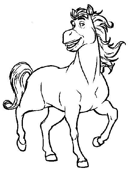 Coloriage et dessins gratuits Shrek: L'âne en cheval à imprimer