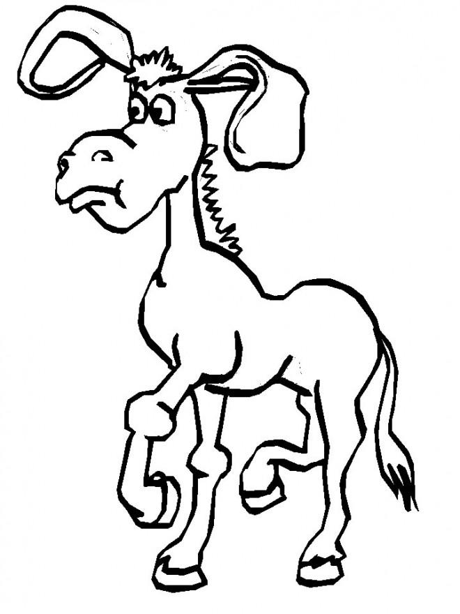 Coloriage et dessins gratuits Shrek: l'âne facile à colorier à imprimer