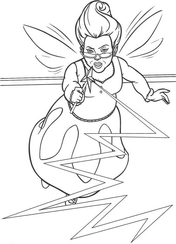 Coloriage et dessins gratuits Shrek: La bonne fée à imprimer
