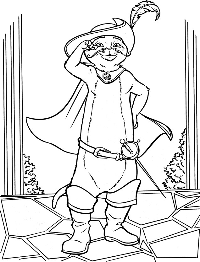 Coloriage Chat Botte A Imprimer.Coloriage Shrek Le Chat Potte Dessin Gratuit A Imprimer