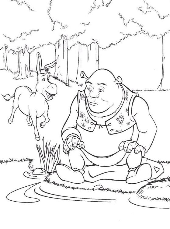 Coloriage et dessins gratuits Shrek triste à imprimer