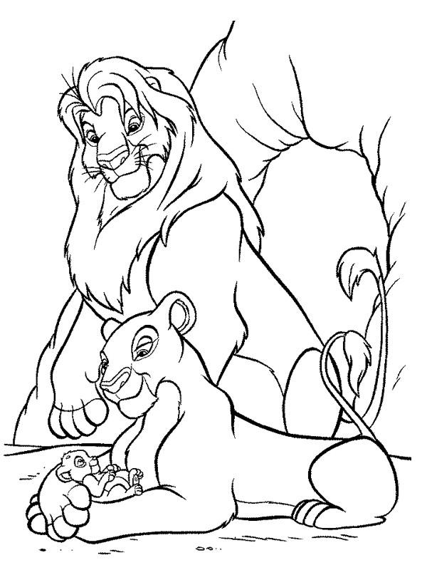 Coloriage et dessins gratuits Nala et Simba à imprimer