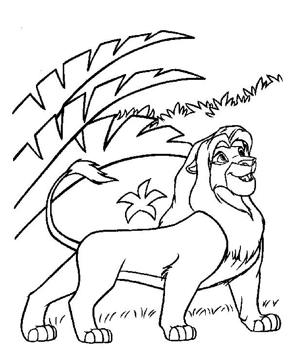 Coloriage et dessins gratuits Simba adulte à imprimer